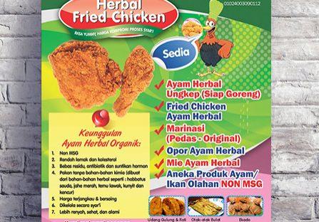 Poster Ayam Herbal